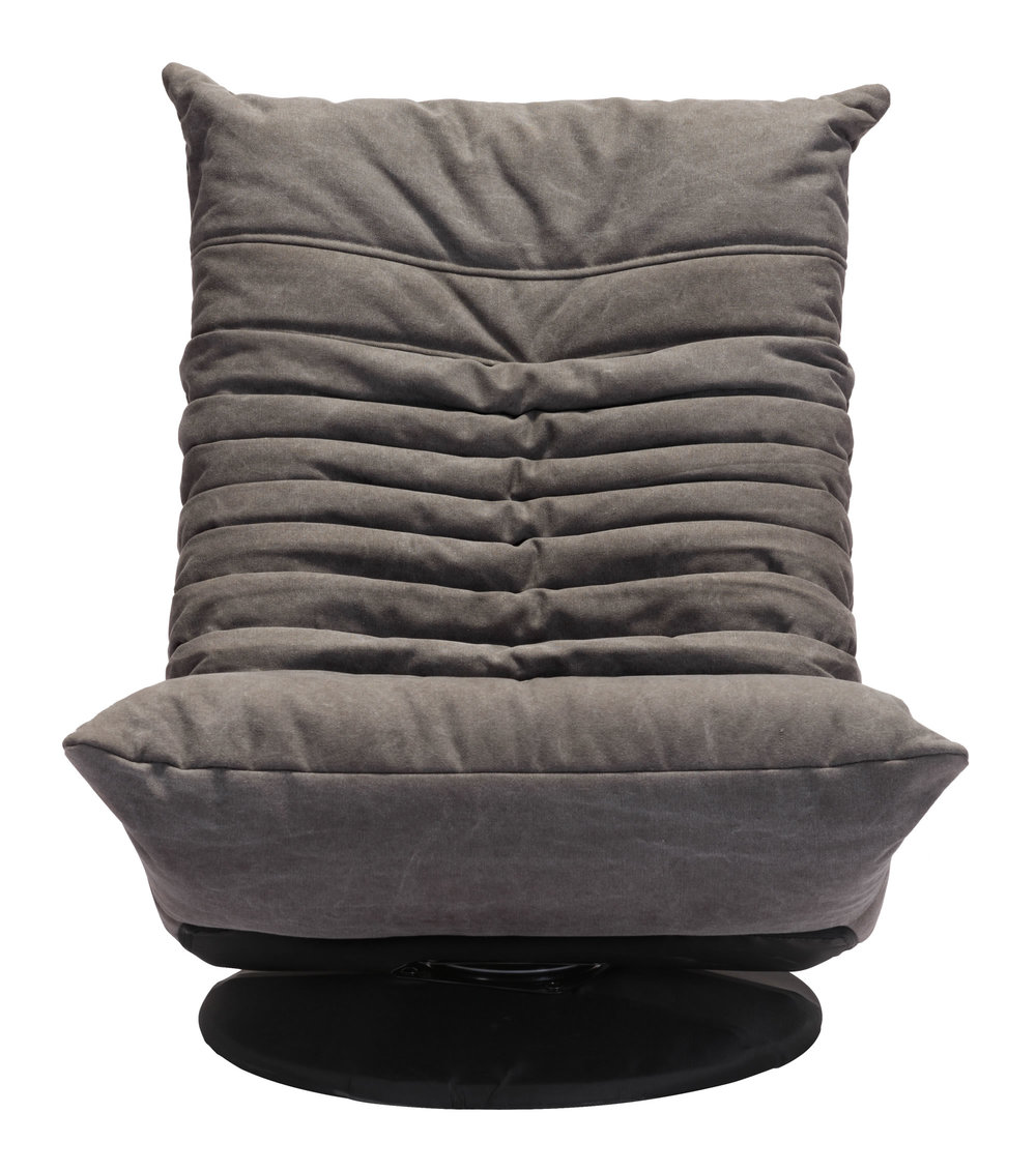 Zuo Modern Contemporary - Down Low Swivel Chair Gray