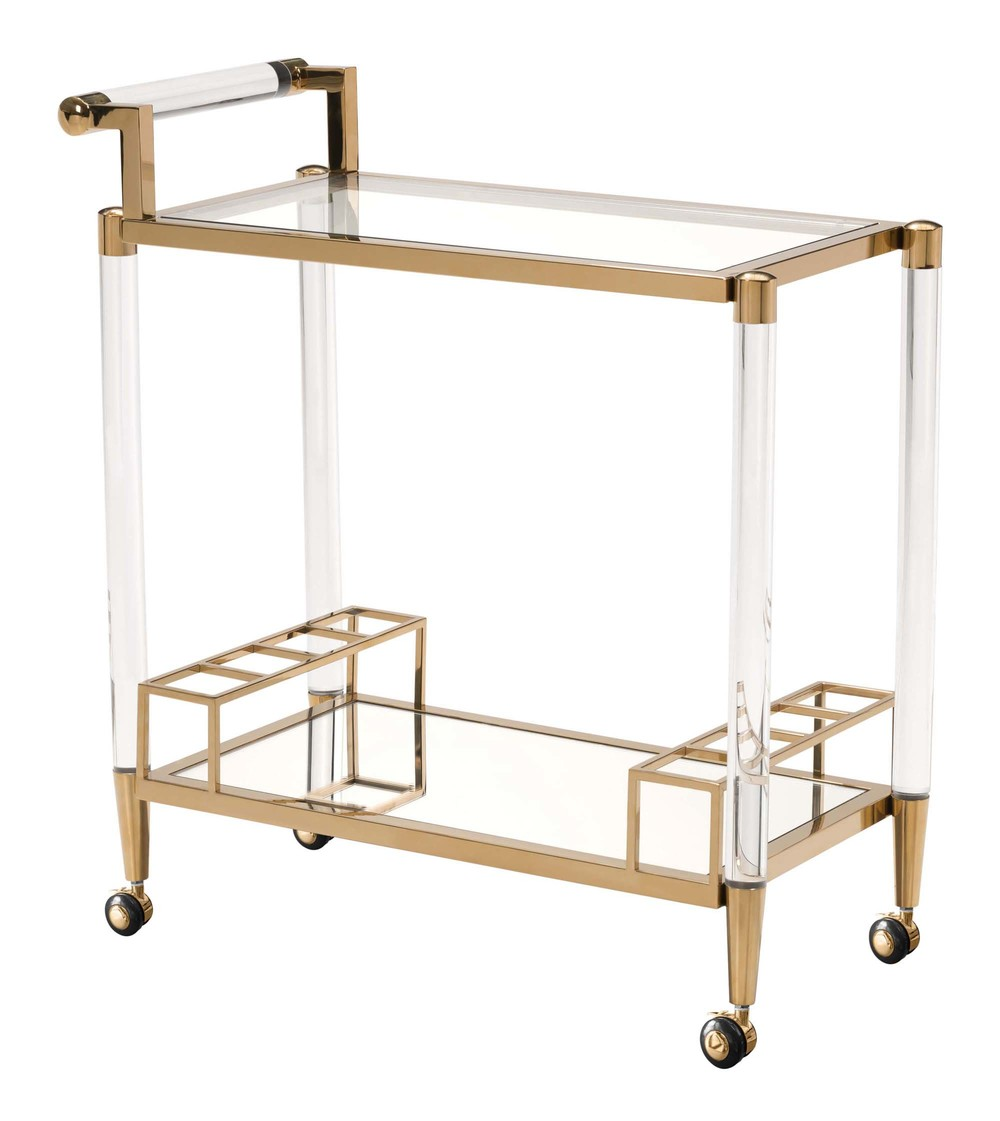 Zuo Modern Contemporary - Existential Bar Cart Gold