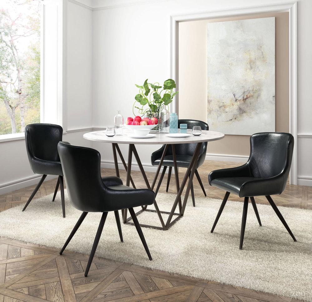 Zuo Modern Contemporary - Dresden Dining Chair - Set of 2 - Black