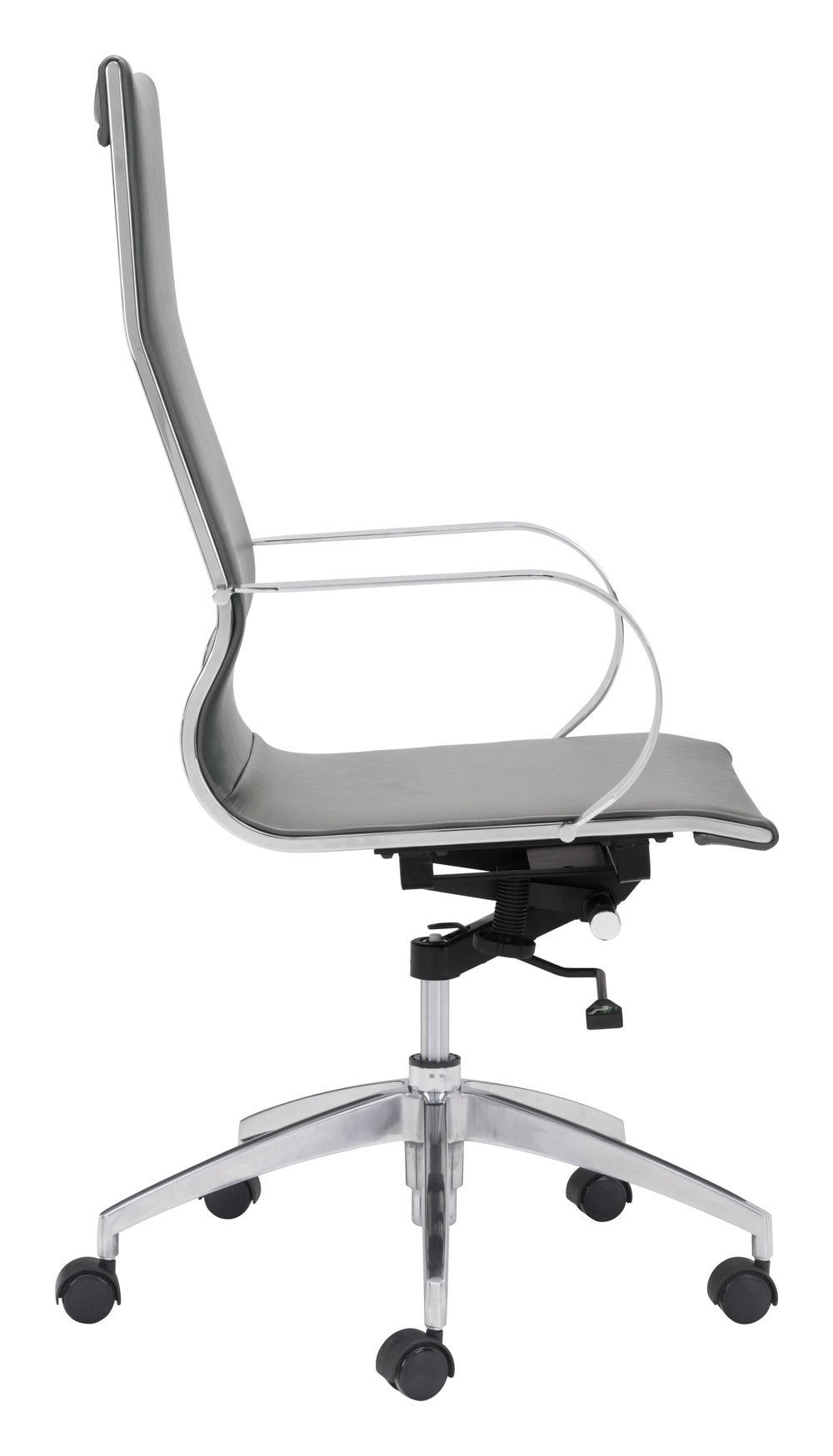 Zuo Modern Contemporary - Glider High Back Office Chair Gray