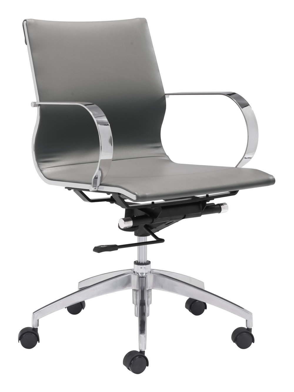 Zuo Modern Contemporary - Glider Low Back Office Chair Gray