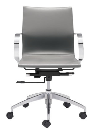 Thumbnail of Zuo Modern Contemporary - Glider Low Back Office Chair Gray