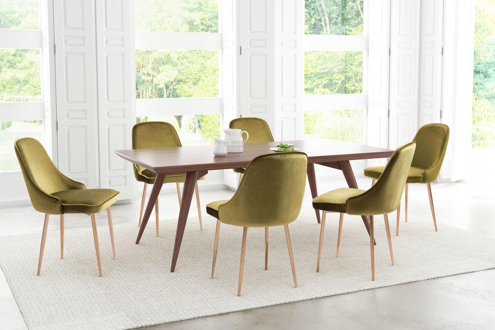 ZUO MODERN CONTEMPORARY, INC - Merritt Dining Chair - Set of 2 - Green