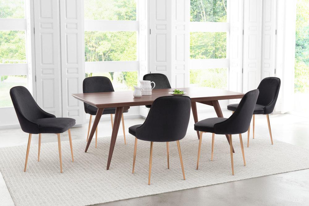 Zuo Modern Contemporary - Merritt Dining Chair - Set of 2 - Black
