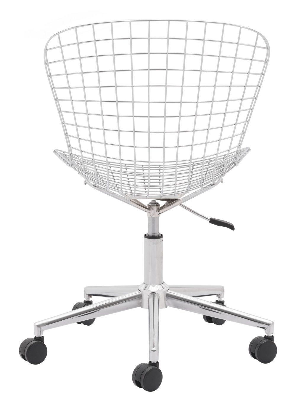Zuo Modern Contemporary - Wire Office Chair Chrome & White Cushion
