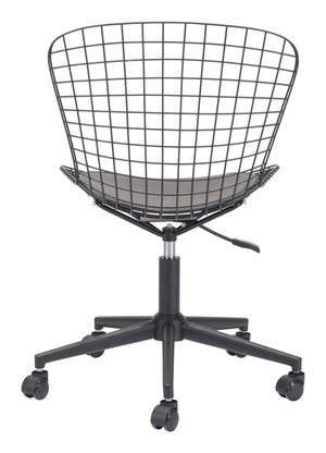 Thumbnail of Zuo Modern Contemporary - Wire Office Chair Black & Black Cushion