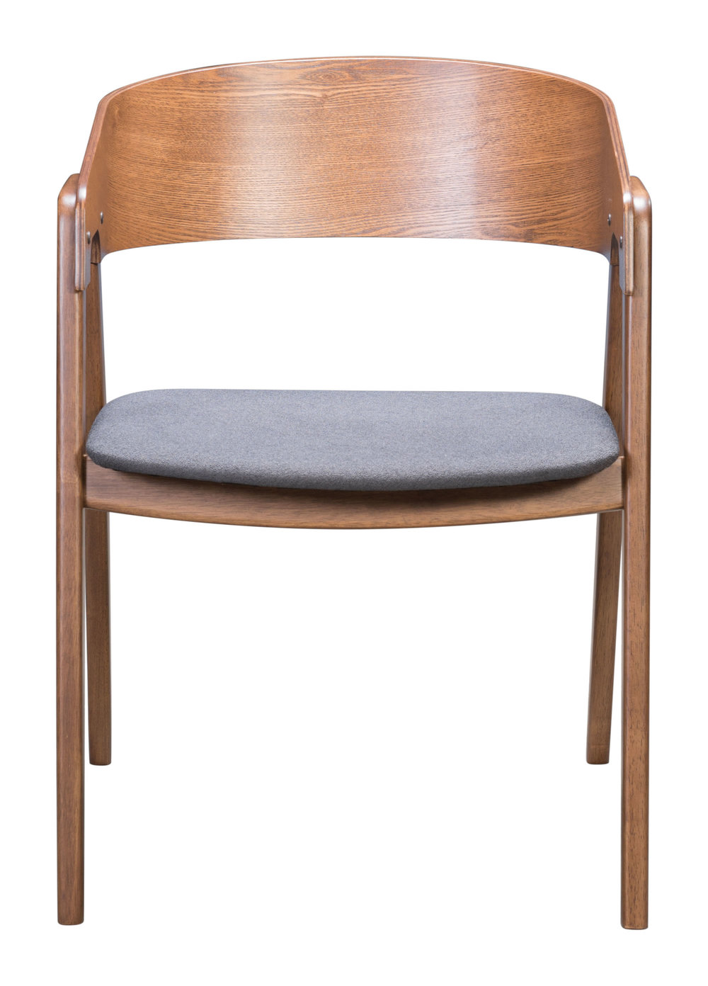 Zuo Modern Contemporary - Alden Dining Arm Chair - Set of 2 - Walnut & Dark Gray