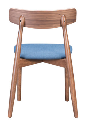 Thumbnail of Zuo Modern Contemporary - Newman Dining Chair - Set of 2 - Walnut & Blue
