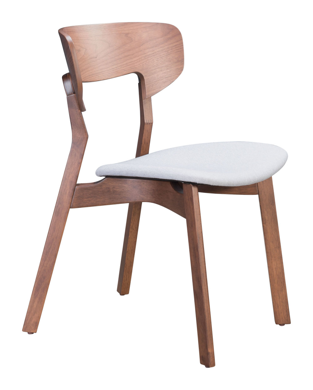 ZUO MODERN CONTEMPORARY, INC - Russell Dining Chair - Set of 2 - Walnut & Gray