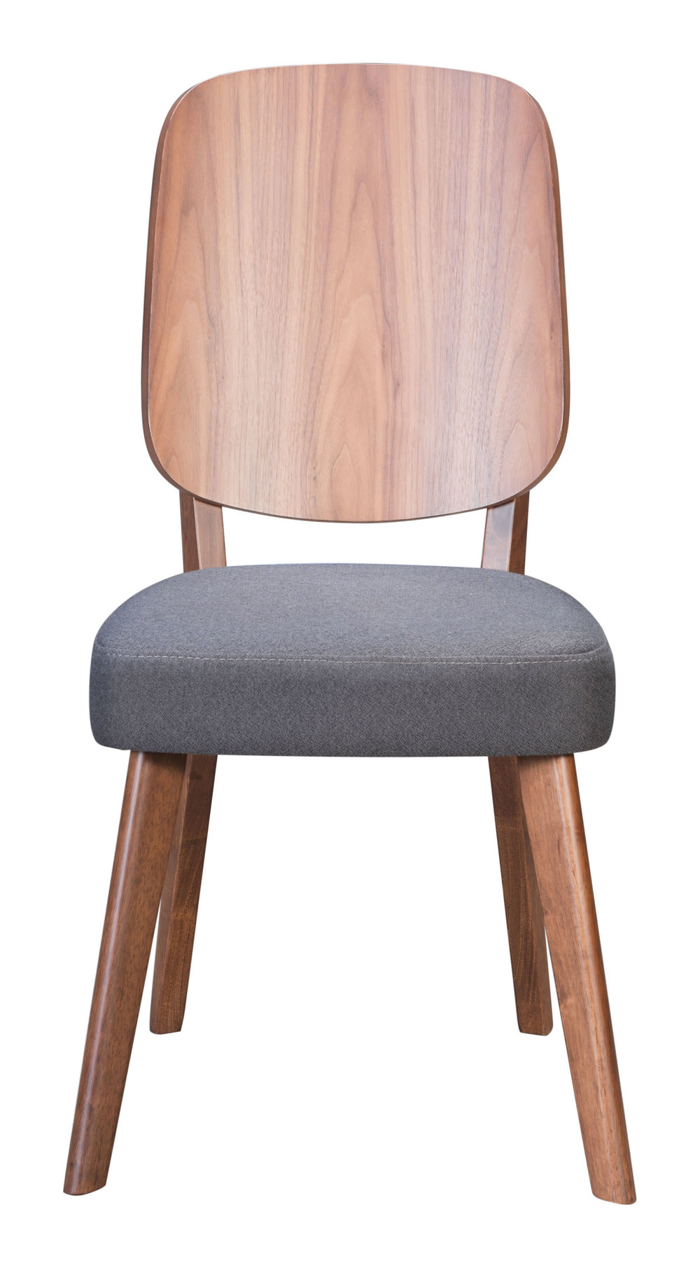 ZUO MODERN CONTEMPORARY, INC - Alberta Dining Chair - Set of 2 - Walnut & Dark Gray