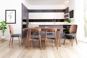 Thumbnail of Zuo Modern Contemporary - Alberta Dining Chair - Set of 2 - Walnut & Dark Gray