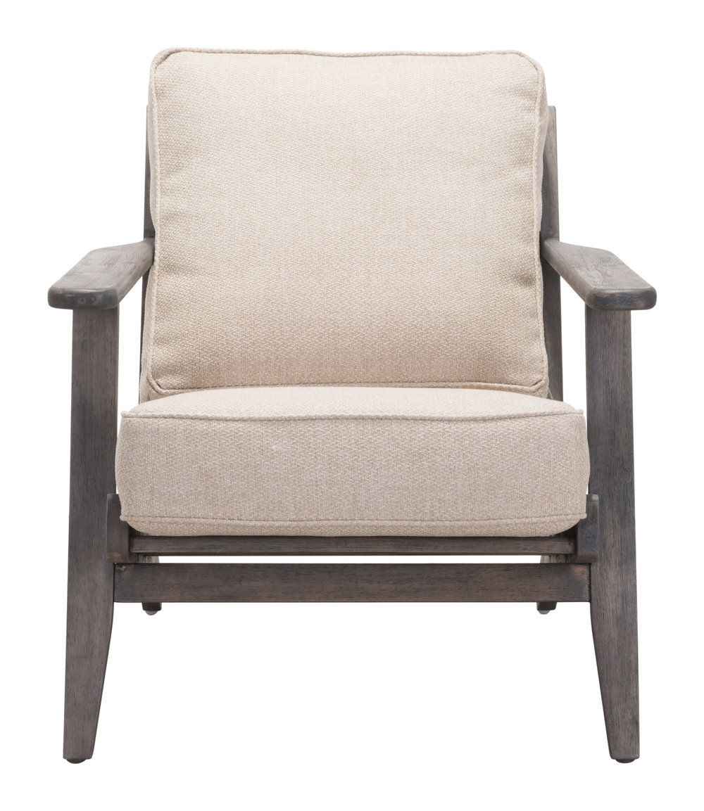 Zuo Modern Contemporary - Tahoe Lounge Chair Beige & Brown