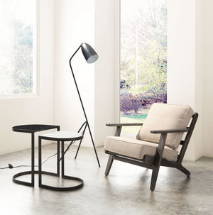 Thumbnail of Zuo Modern Contemporary - Tahoe Lounge Chair Beige & Brown