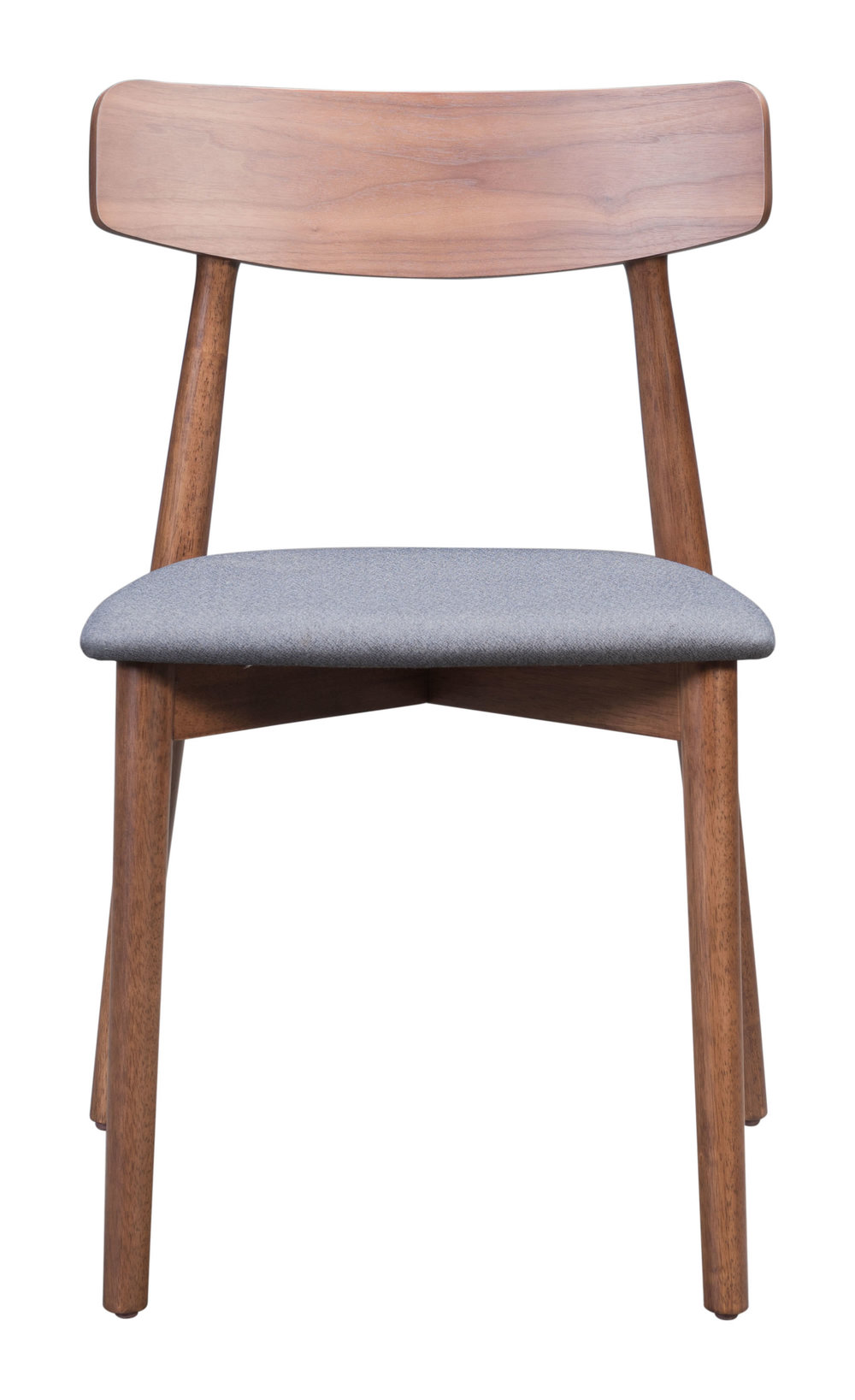ZUO MODERN CONTEMPORARY, INC - Newman Dining Chair - Set of 2 - Walnut & Gray
