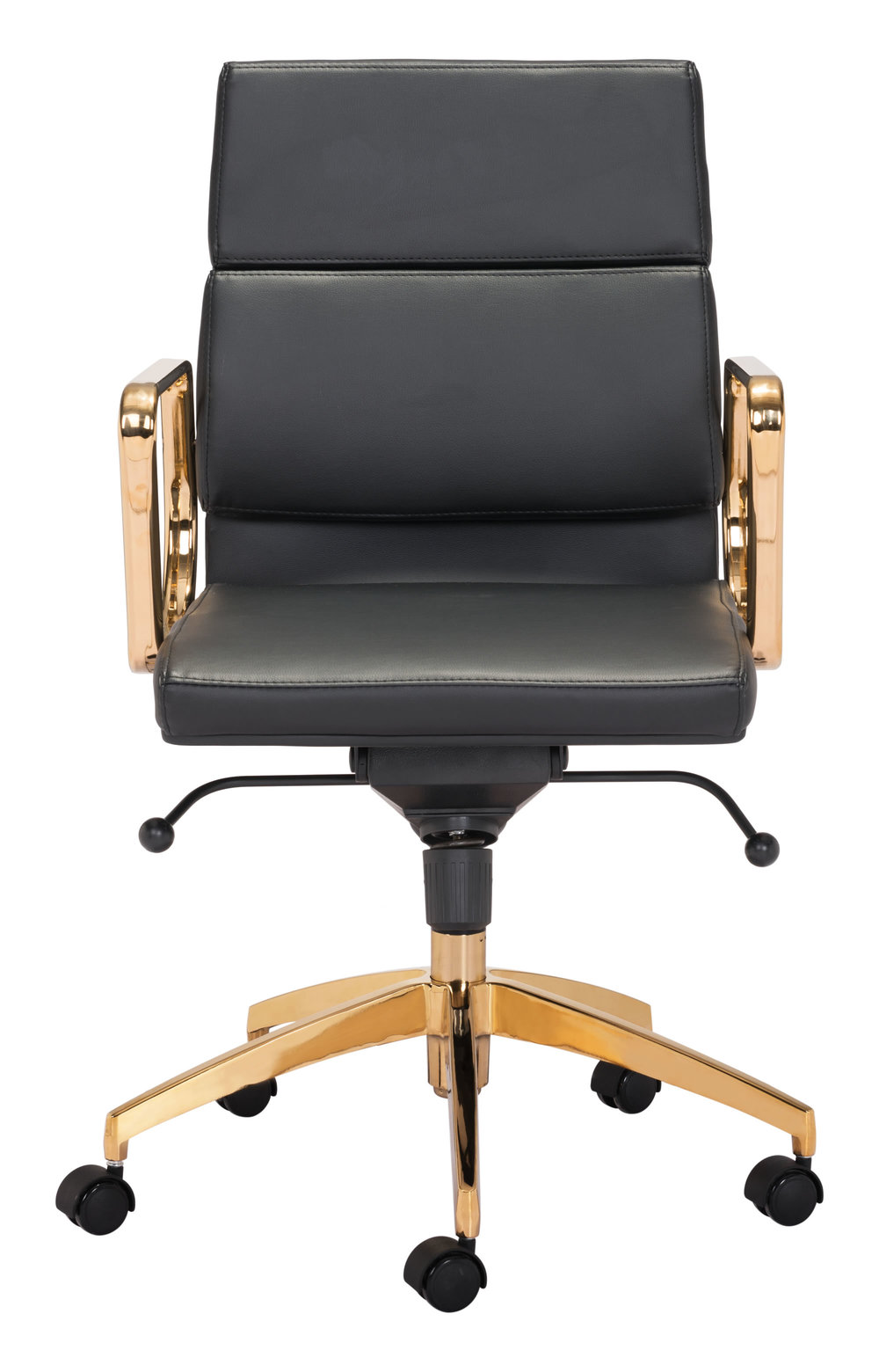 Zuo Modern Contemporary - Scientist Low Back Office Chair Black & Gold