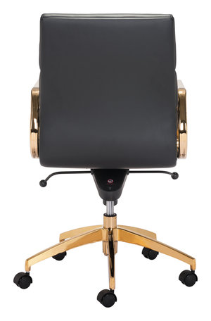 Thumbnail of Zuo Modern Contemporary - Scientist Low Back Office Chair Black & Gold