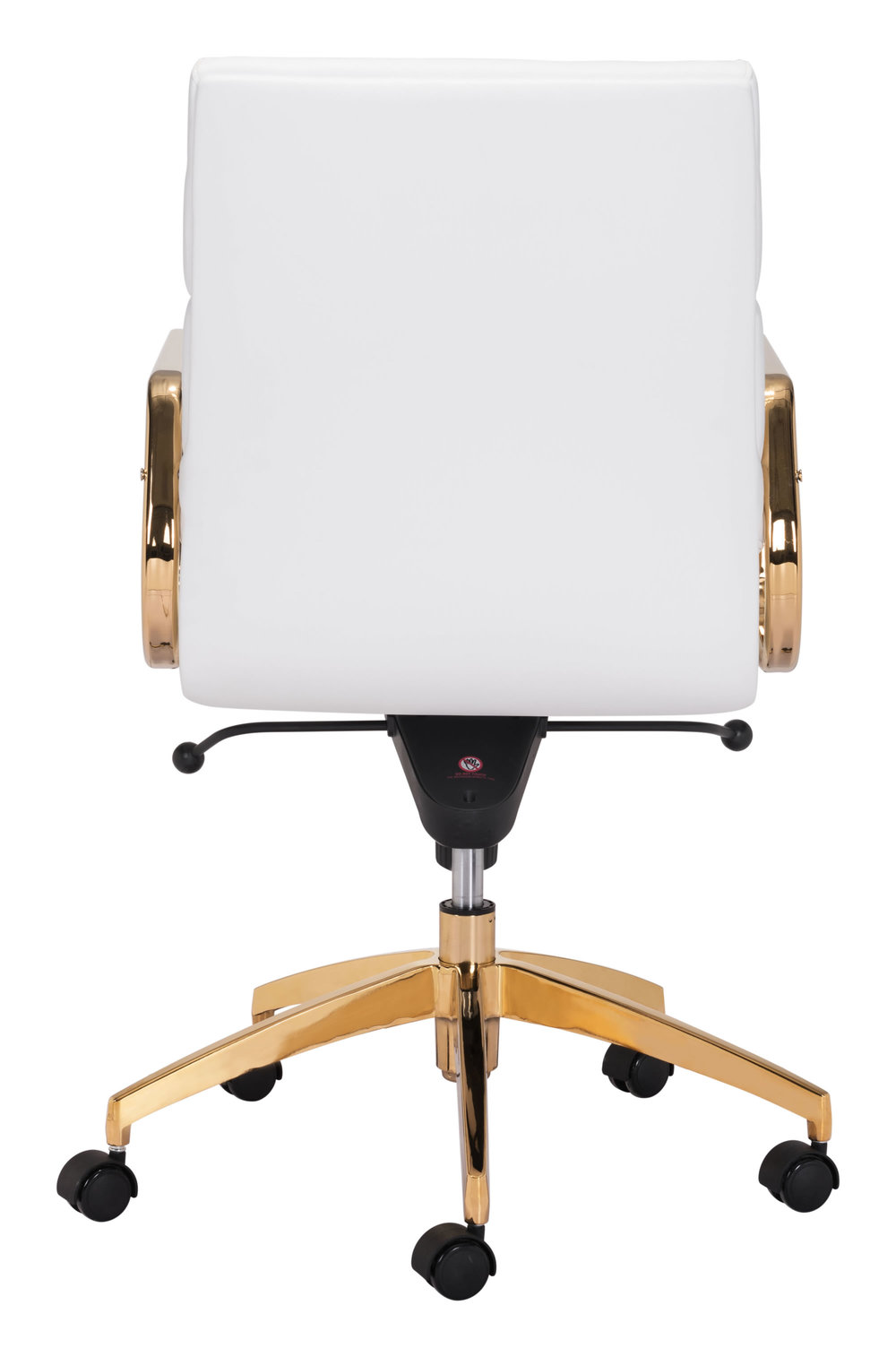 Zuo Modern Contemporary - Scientist Low Back Office Chair White & Gold