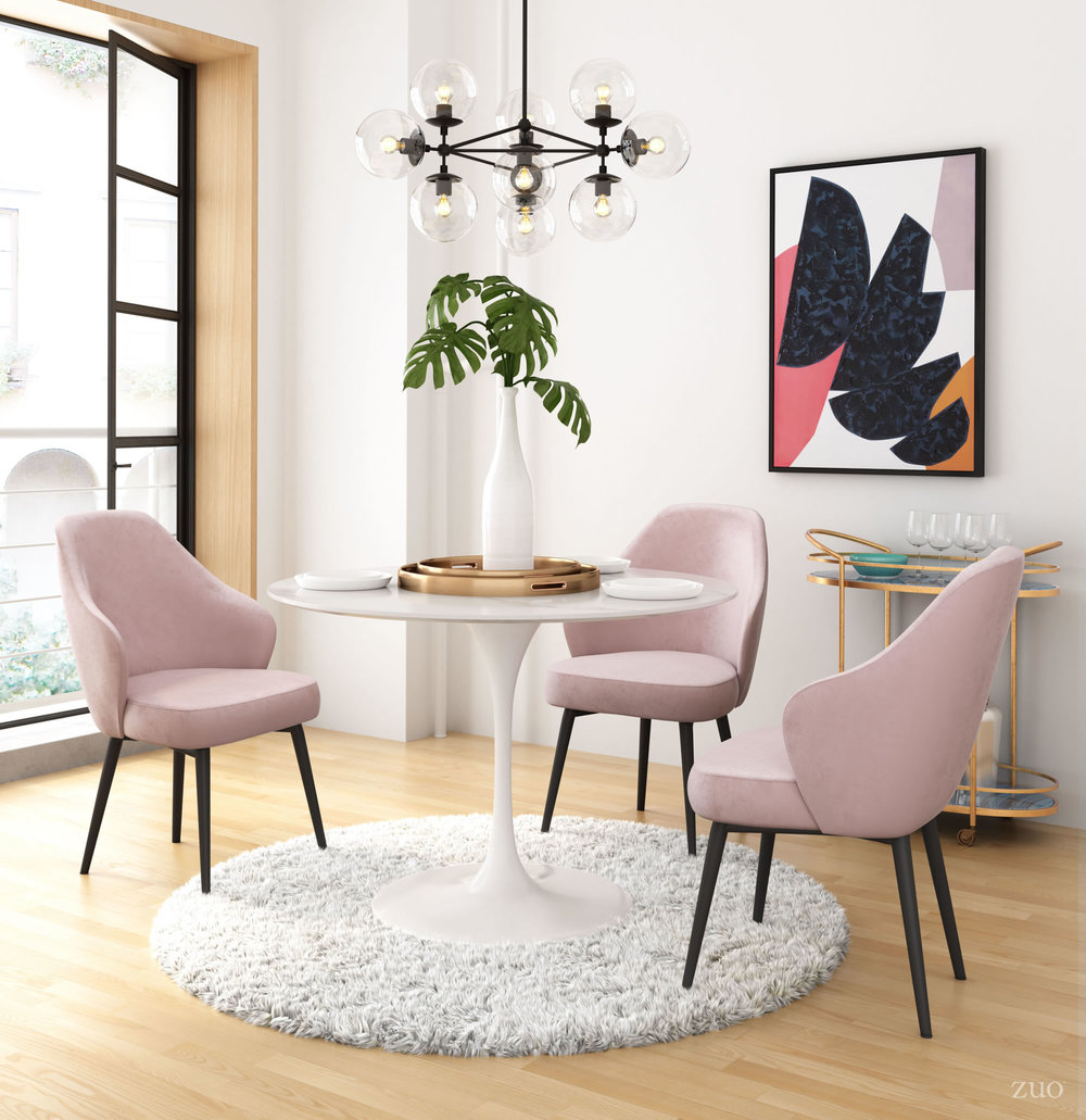 Zuo Modern Contemporary - Savon Dining Chair Light Pink