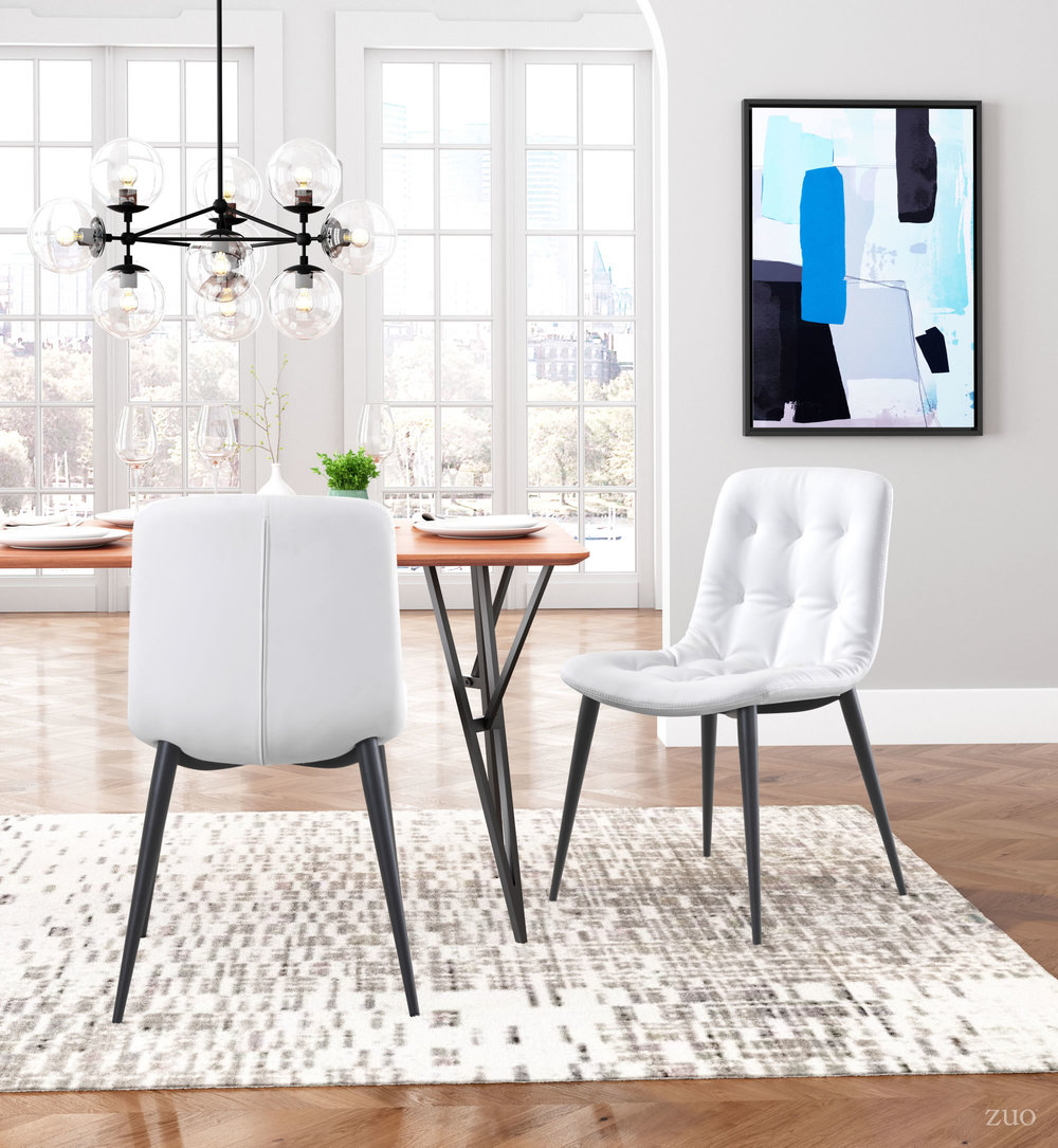 Zuo Modern Contemporary - Tangiers Dining Chair - Set of 2 - White