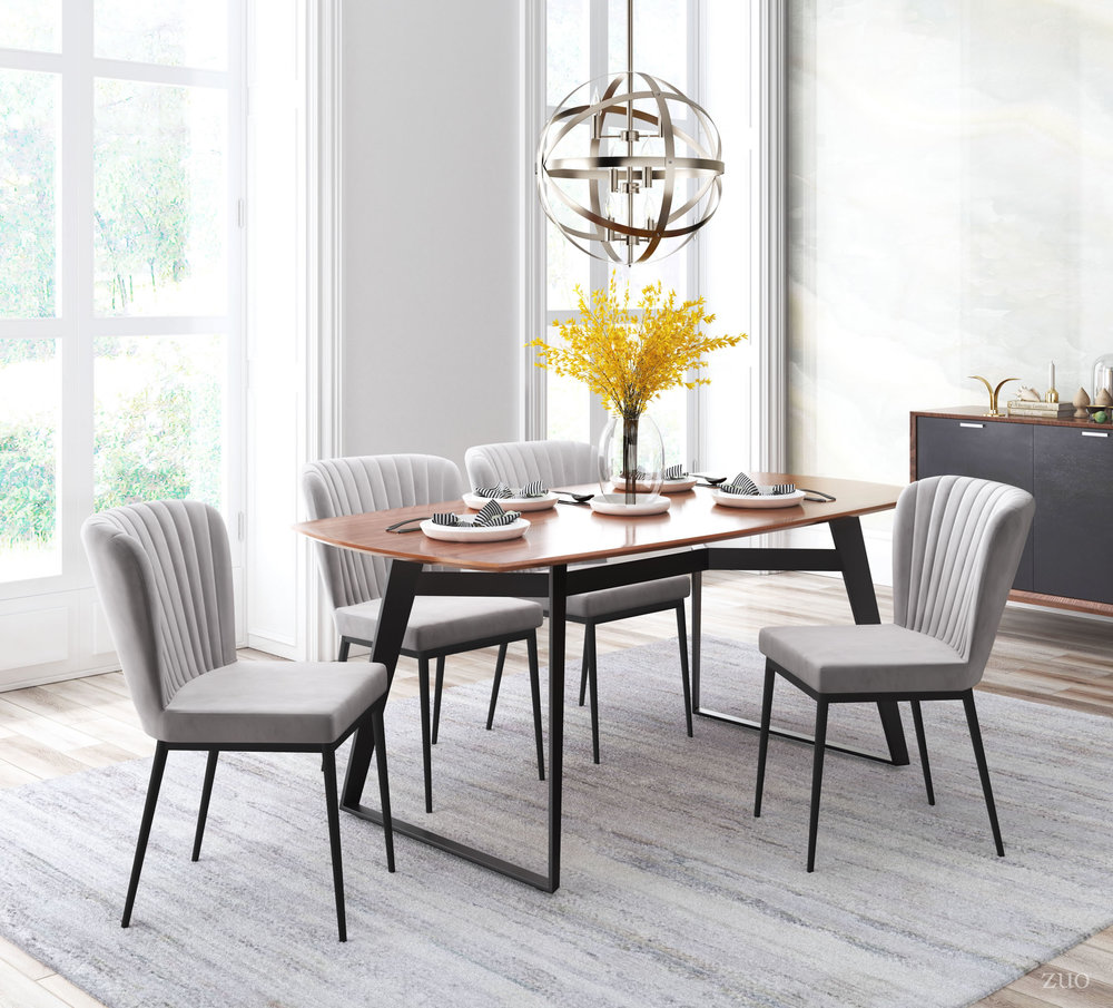ZUO MODERN CONTEMPORARY, INC - Tolivere Dining Chair - Set of 2 - Gray