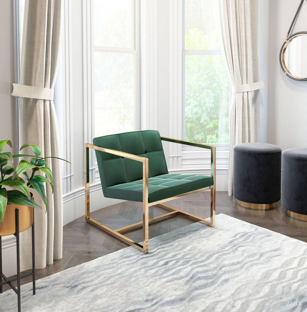 Zuo Modern Contemporary - Alt Arm Chair Green