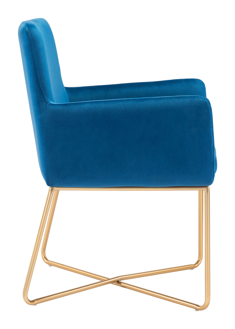 Zuo Modern Contemporary - Honoria Arm Chair Dark Blue