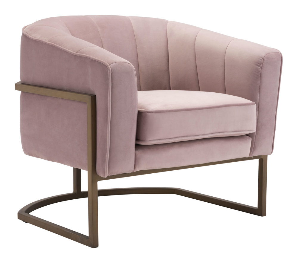 Zuo Modern Contemporary - Lyric Occasional Chair Pink