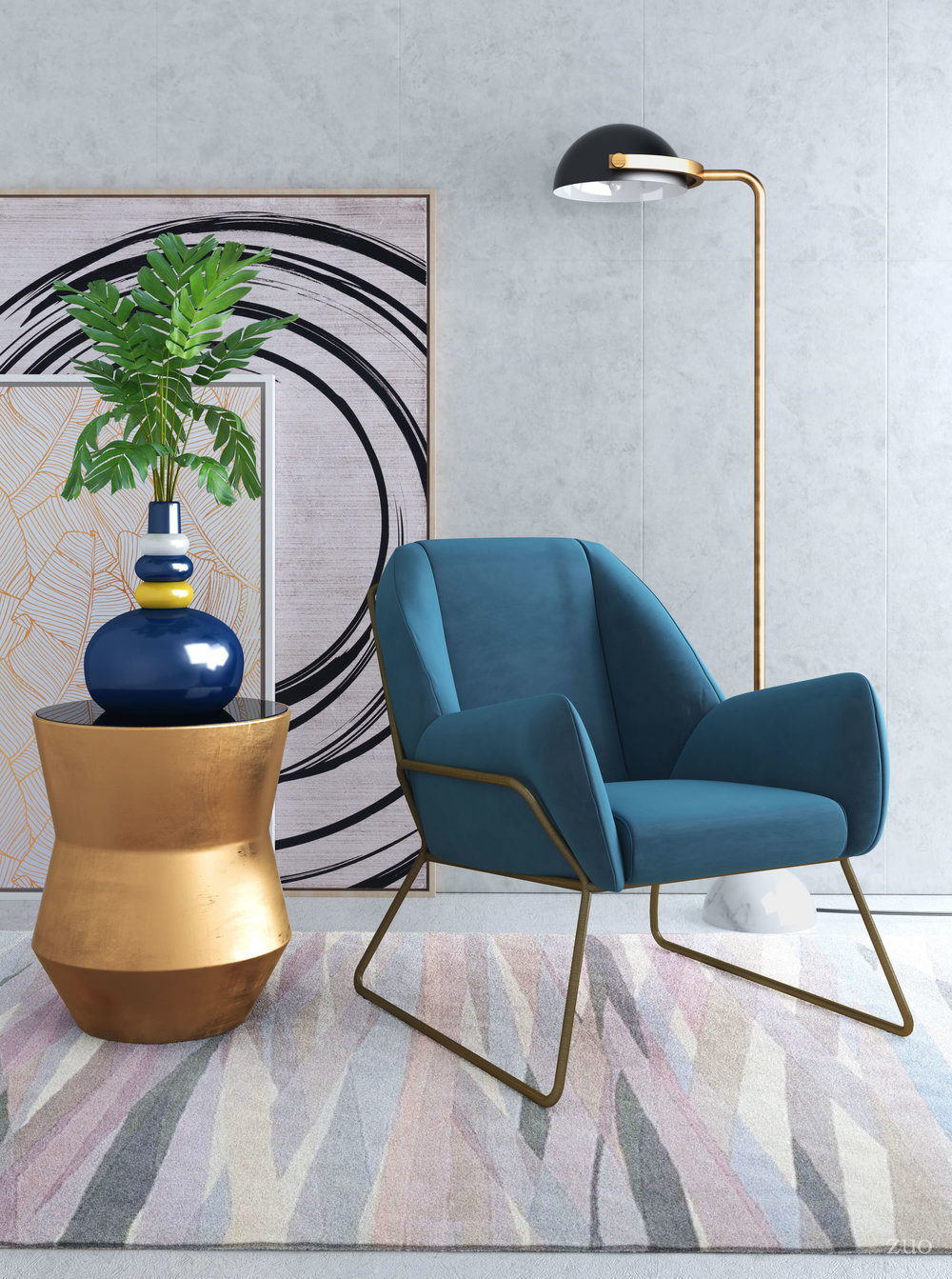 Zuo Modern Contemporary - Stanza Arm Chair Blue