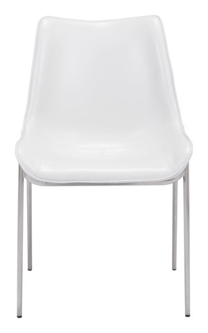 Thumbnail of Zuo Modern Contemporary - Magnus Dining Chair - Set of 2 - White & Silver