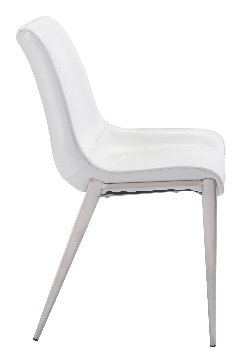 Zuo Modern Contemporary - Magnus Dining Chair - Set of 2 - White & Silver