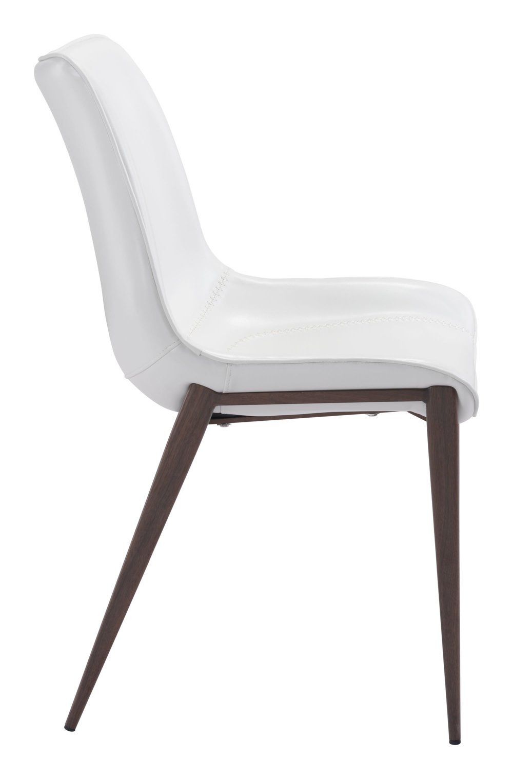 Zuo Modern Contemporary - Magnus Dining Chair - Set of 2 - White & Walnut