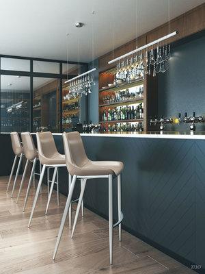 Thumbnail of Zuo Modern Contemporary - Magnus Bar Chair, Set/2, Gray & Silver