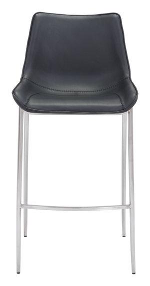 Thumbnail of Zuo Modern Contemporary - Magnus Bar Chair, Set/2, Black & Silver