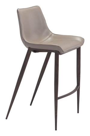 Thumbnail of Zuo Modern Contemporary - Magnus Bar Chair, Set/2, Gray & Walnut