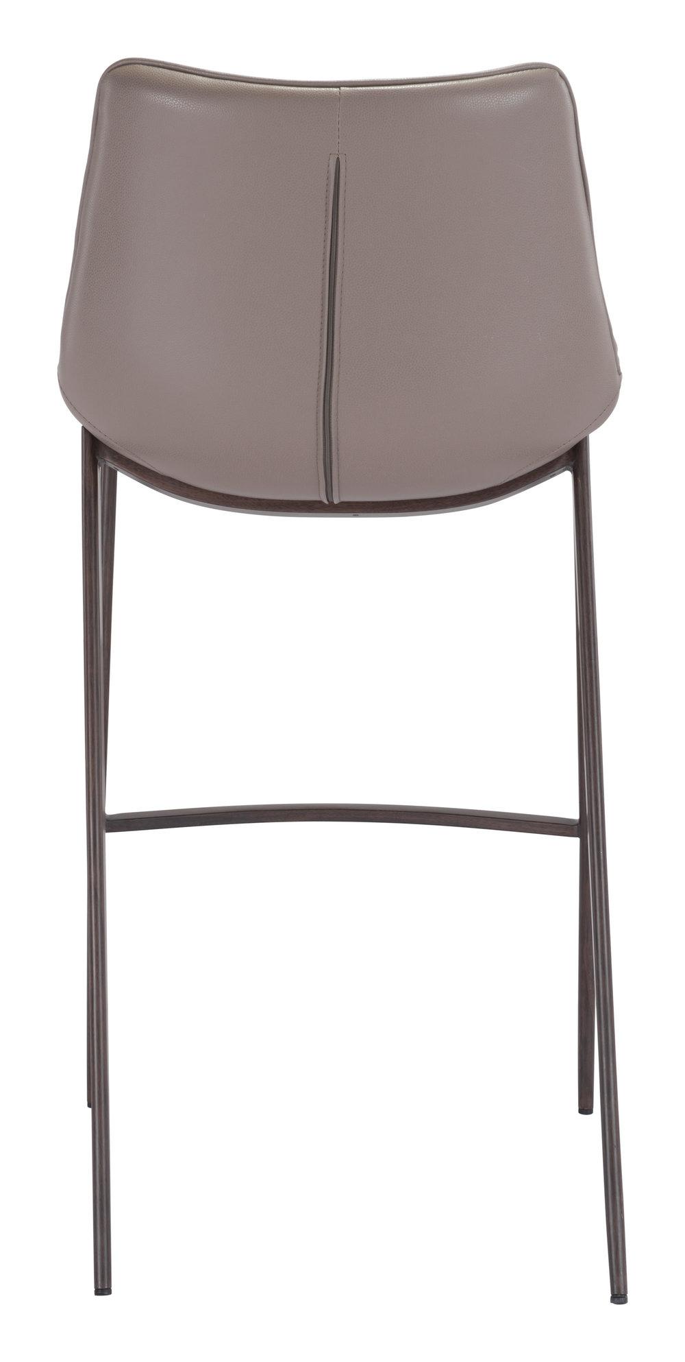 Zuo Modern Contemporary - Magnus Bar Chair, Set/2, Gray & Walnut