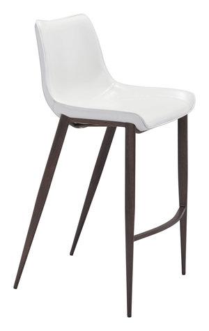 Thumbnail of Zuo Modern Contemporary - Magnus Bar Chair, Set/2, White & Walnut