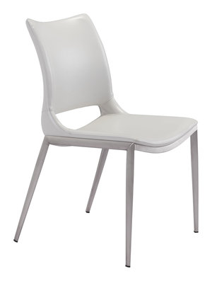 Thumbnail of Zuo Modern Contemporary - Ace Dining Chair - Set of 2 - White & Silver
