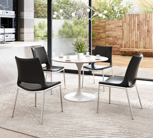 Thumbnail of Zuo Modern Contemporary - Ace Dining Chair - Set of 2 - Black & Silver