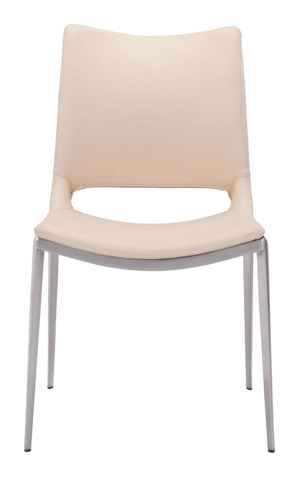 Zuo Modern Contemporary - Ace Dining Chair - Set of 2 - Light Pink & Silver