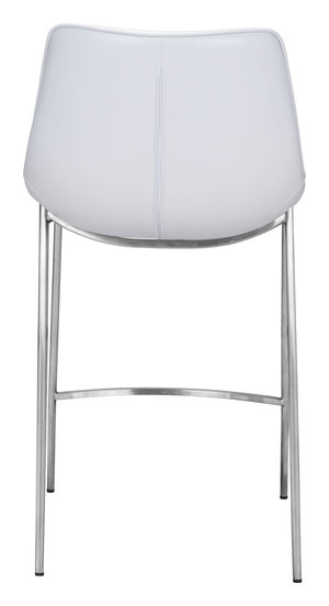 Thumbnail of Zuo Modern Contemporary - Magnus Counter Chair, Set/2, White & Silver