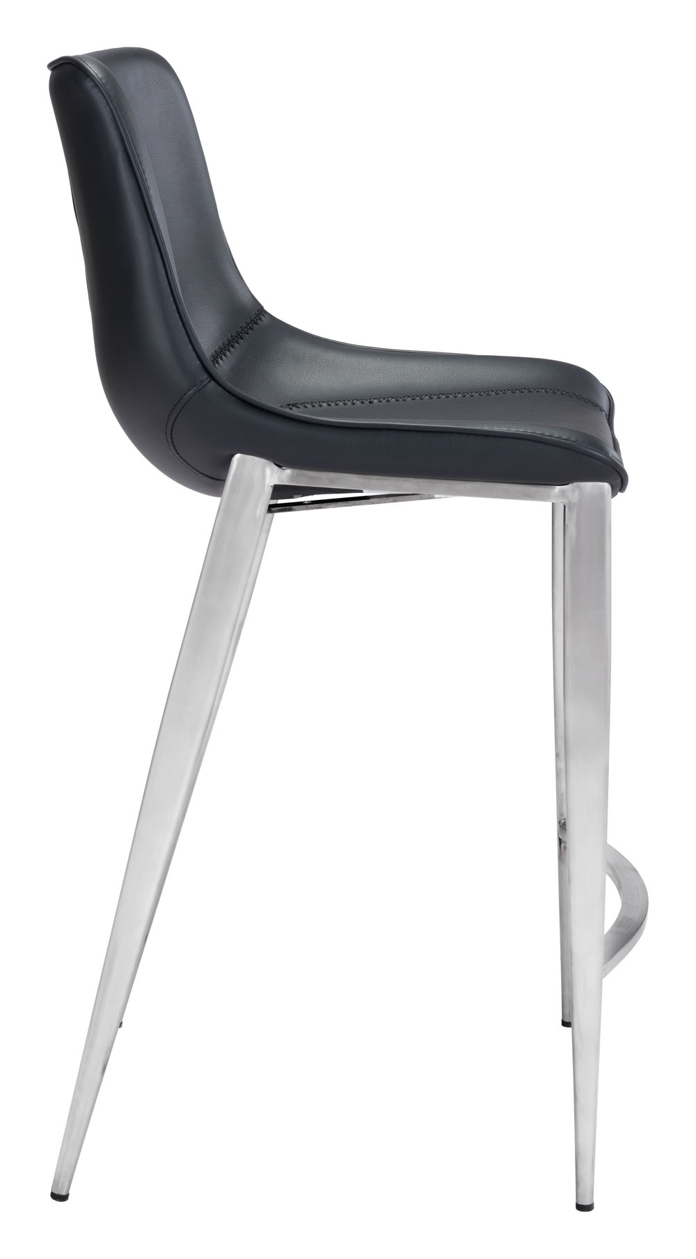 Zuo Modern Contemporary - Magnus Counter Chair, Set/2, Black & Silver