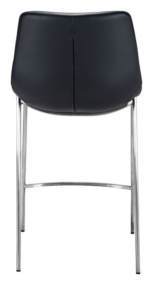 Thumbnail of Zuo Modern Contemporary - Magnus Counter Chair, Set/2, Black & Silver