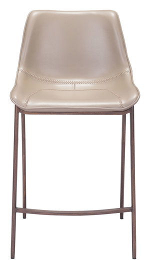 Thumbnail of Zuo Modern Contemporary - Magnus Counter Chair, Set/2, Gray & Walnut