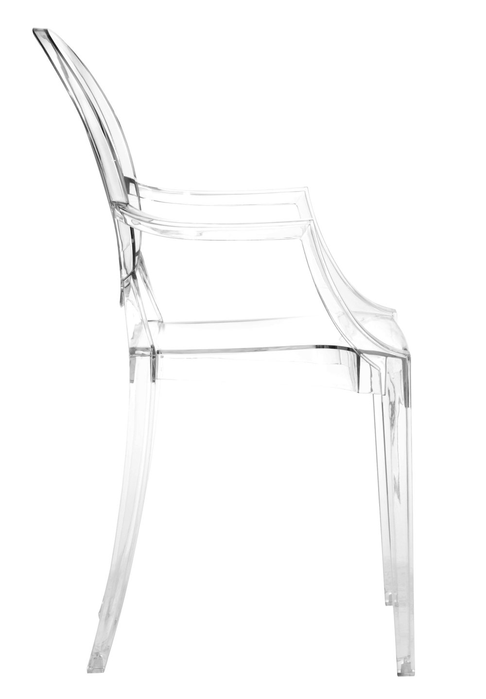 Zuo Modern Contemporary - Anime Dining Chair - Set of 4 - Transparent