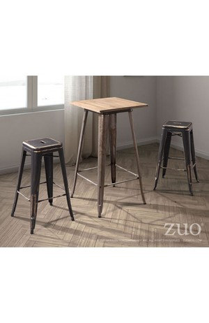 Thumbnail of ZUO MODERN CONTEMPORARY, INC - Marius Bar Stool, Set/2, Antique Black Gold