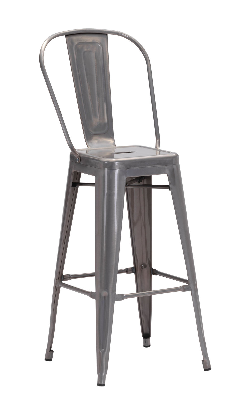 Zuo Modern Contemporary - Elio Bar Chair - Set of 2 - Gunmetal