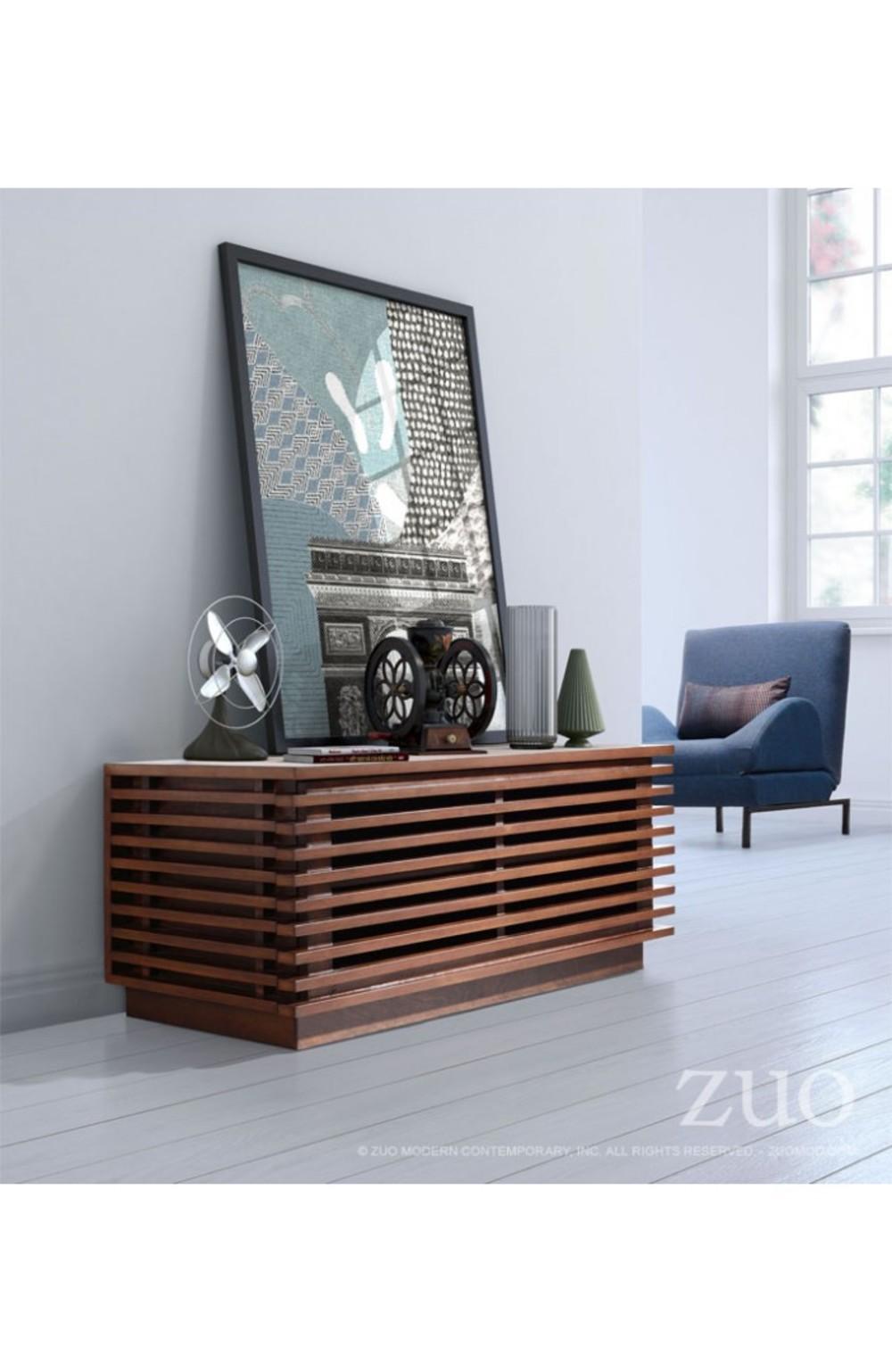 Zuo Modern Contemporary - Linea Narrow Entertainment Stand Walnut