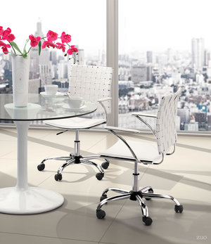 Thumbnail of Zuo Modern Contemporary - Criss Cross Office Chair White