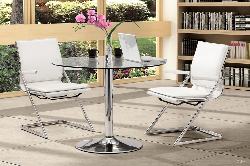 Zuo Modern Contemporary - Lider Plus Conference Chair, Set/2, White