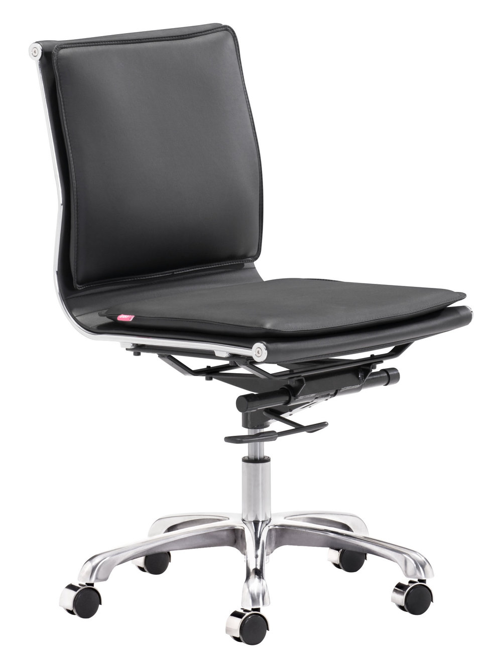 Zuo Modern Contemporary - Lider Plus Armless Office Chair Black